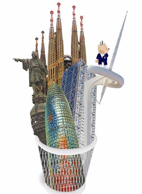 Dibujos de Monumentos de Barcelona- JAVIER BARBADOS