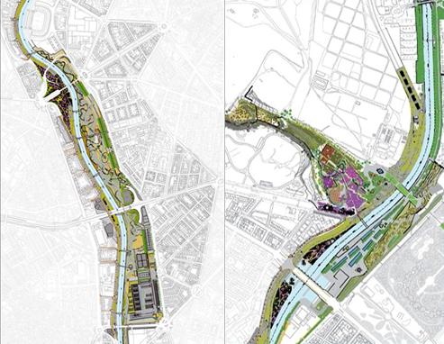 Alcances de la propuesta para el Plan Madrid Rio. Madrid_España