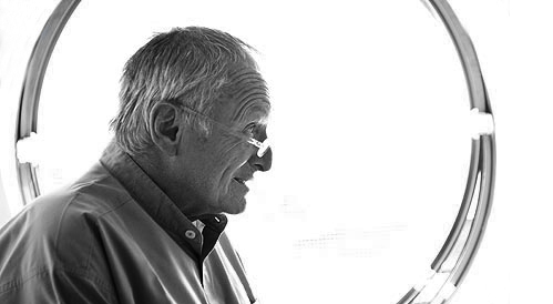 The architect Sir Richard Rogers at his office in Fulham. BN. Photo Martin Argles