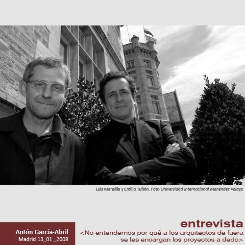 Entrevista mansilla 1959 2012 tu n 1959 - Trabajo de arquitecto en espana ...
