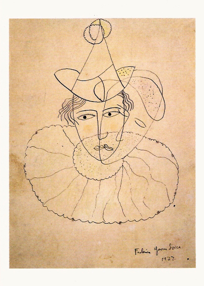GARCIA LORCA Payaso de rostro desdoblado 1927